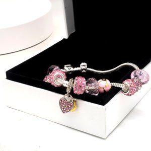 Girls pandoral classic charm bracelet set